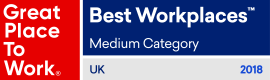 Great Place To Work - Best Workplaces - Medium Category - UK 2018